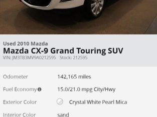 2010 MAZDA CX-9 Car For Sale