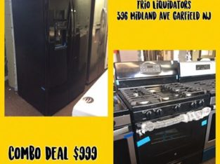 GE Side By Side Refrigerator & GE Gas Stove