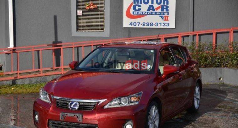 2013 LEXUS CT 200H Car For Rent