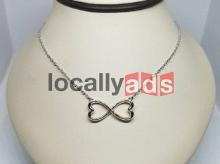 Infinity Heart 14k White CHAIN For Sale