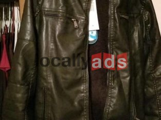 Faux Leather Jacket For Sale