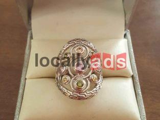 Multistone Celtic Ring For Sale