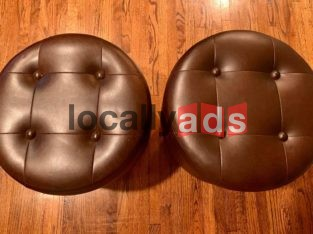 Elegant Dark Brown Leatherette Set For Sale