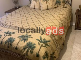 Queen Bed With Serta Pillow Top Mattress For Sale